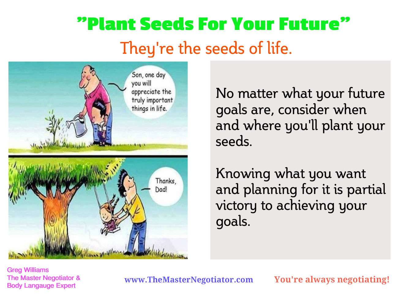 Plant Seeds For Your Future Negotiation