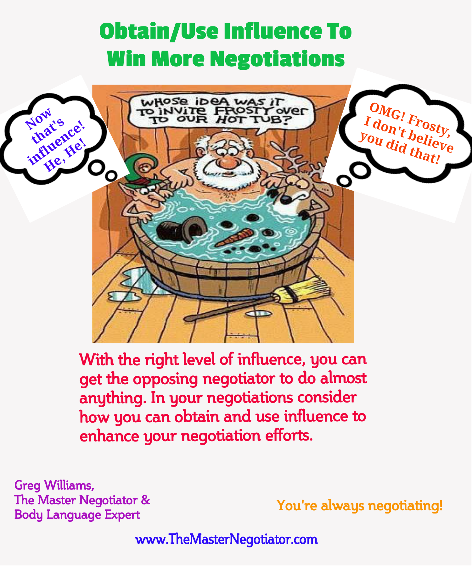 Obtain Use Influence To Win More Negotiations
