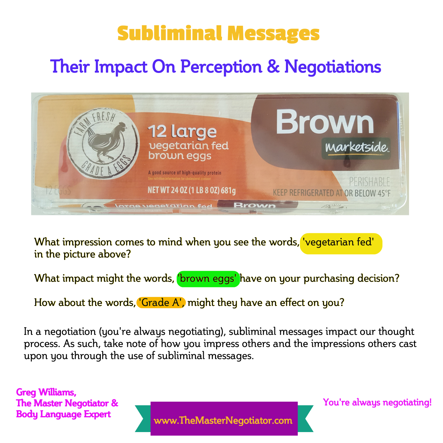 Subliminal messages and their effects on | Coursework
