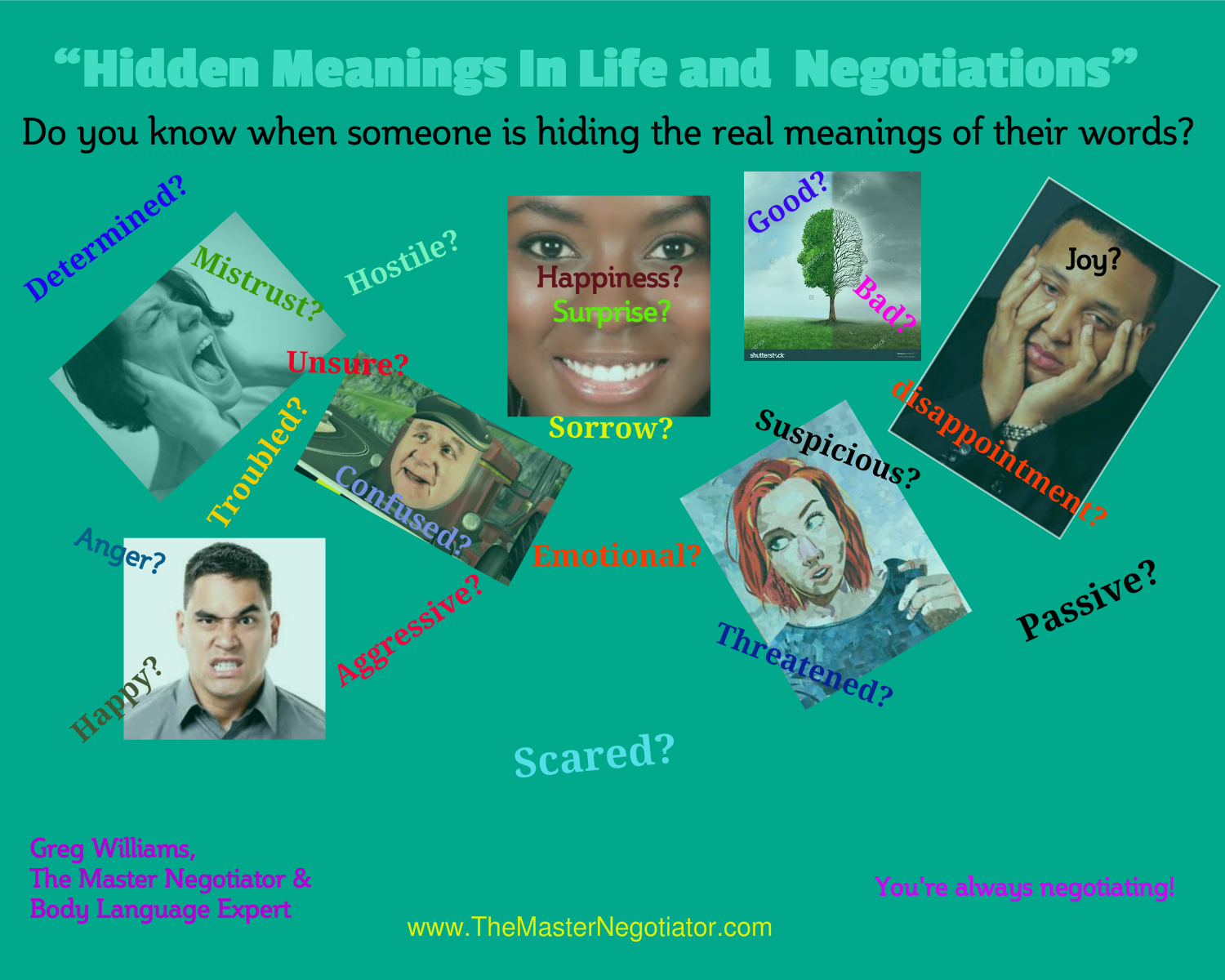 Hidden Meanings In Life and  Negotiations