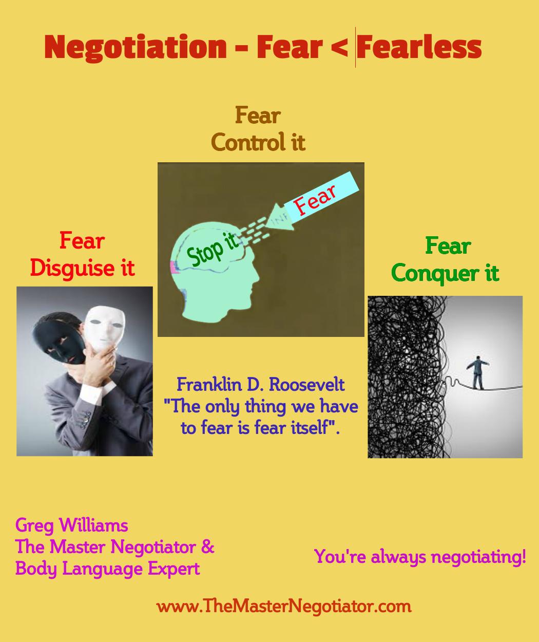 Negotiation Fear Fearless