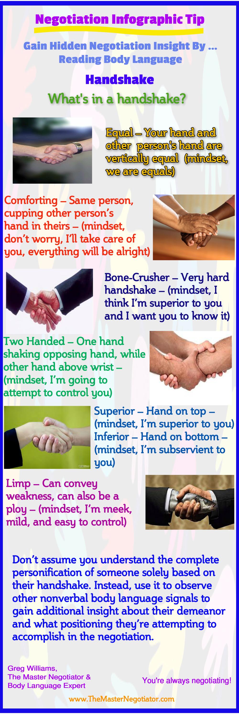 Gain Hidden Negotiation Insight By Reading Body Language  Handshake