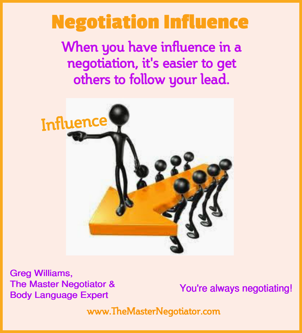 Negotiation Influence