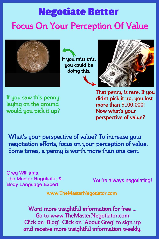 Negotiate Better Focus On Perception Of Value