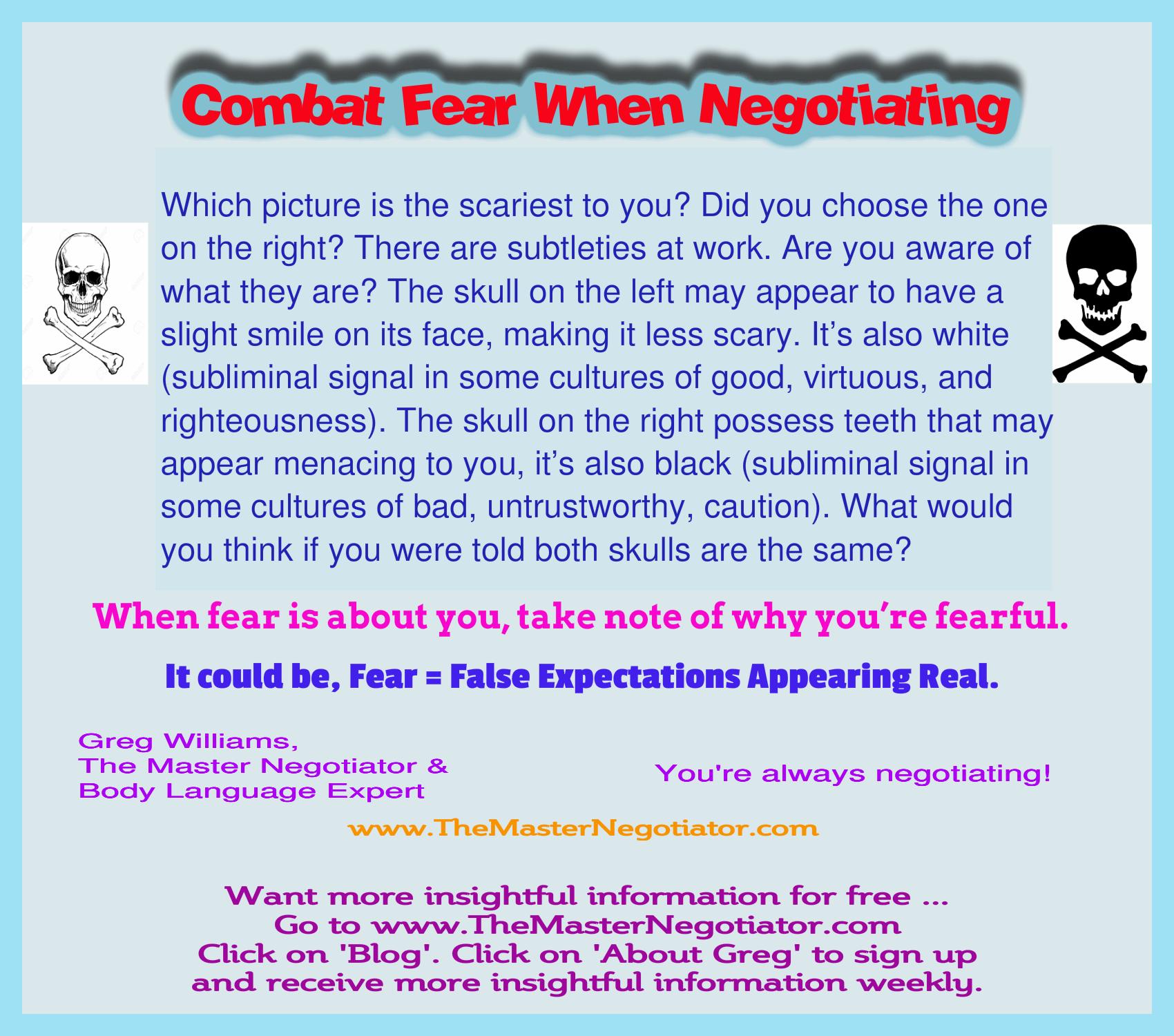 Combat Fear When Negotiating