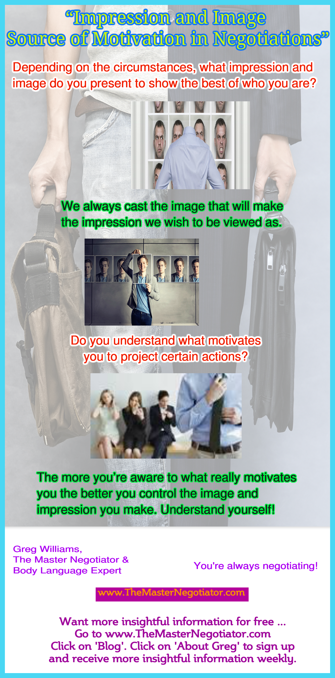 Impression and Image  Source of Motivation in Negotiations 2