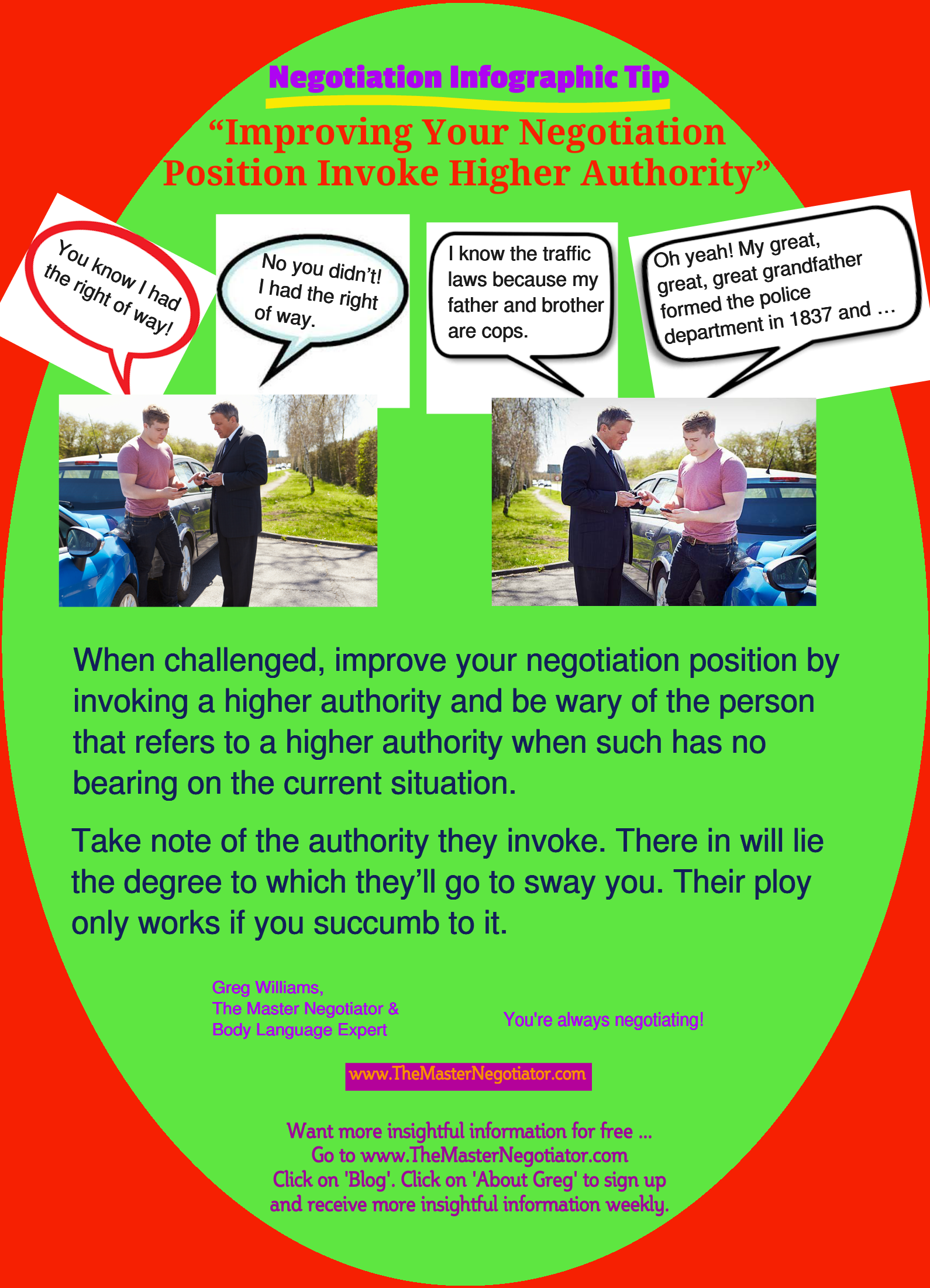 Improving Your Negotiation Position By Invoking Higher Authority