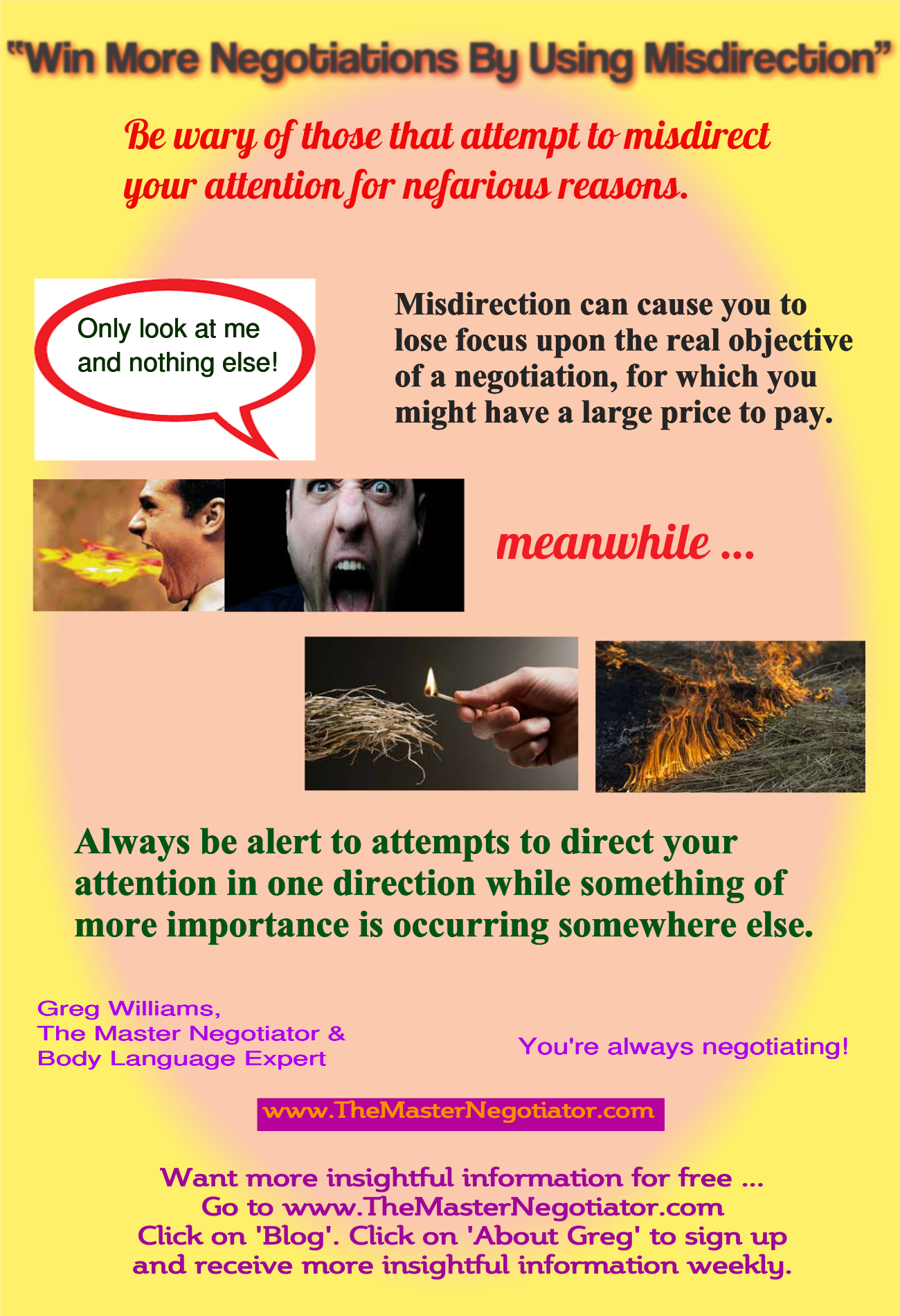 Win More Negotiation By Using Misdirection
