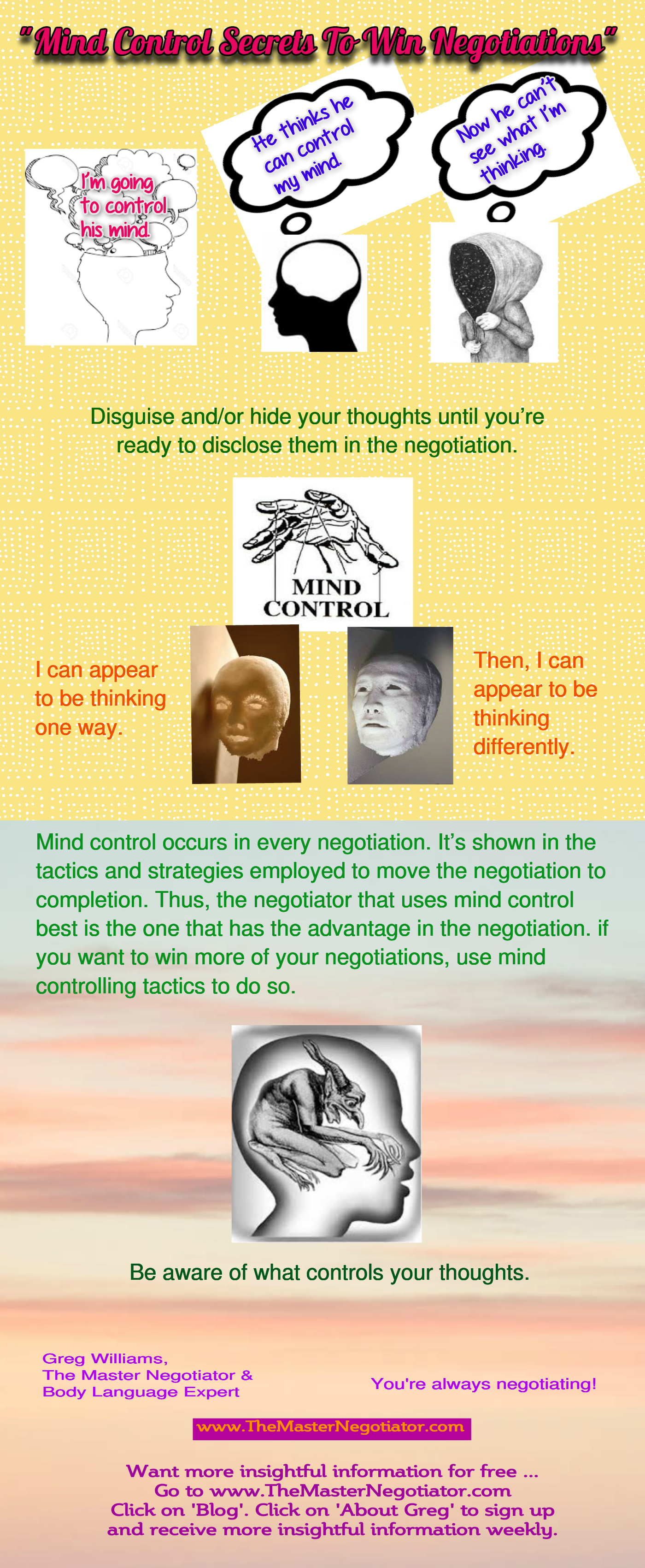 Mind Control Secrets To Win Negotiations