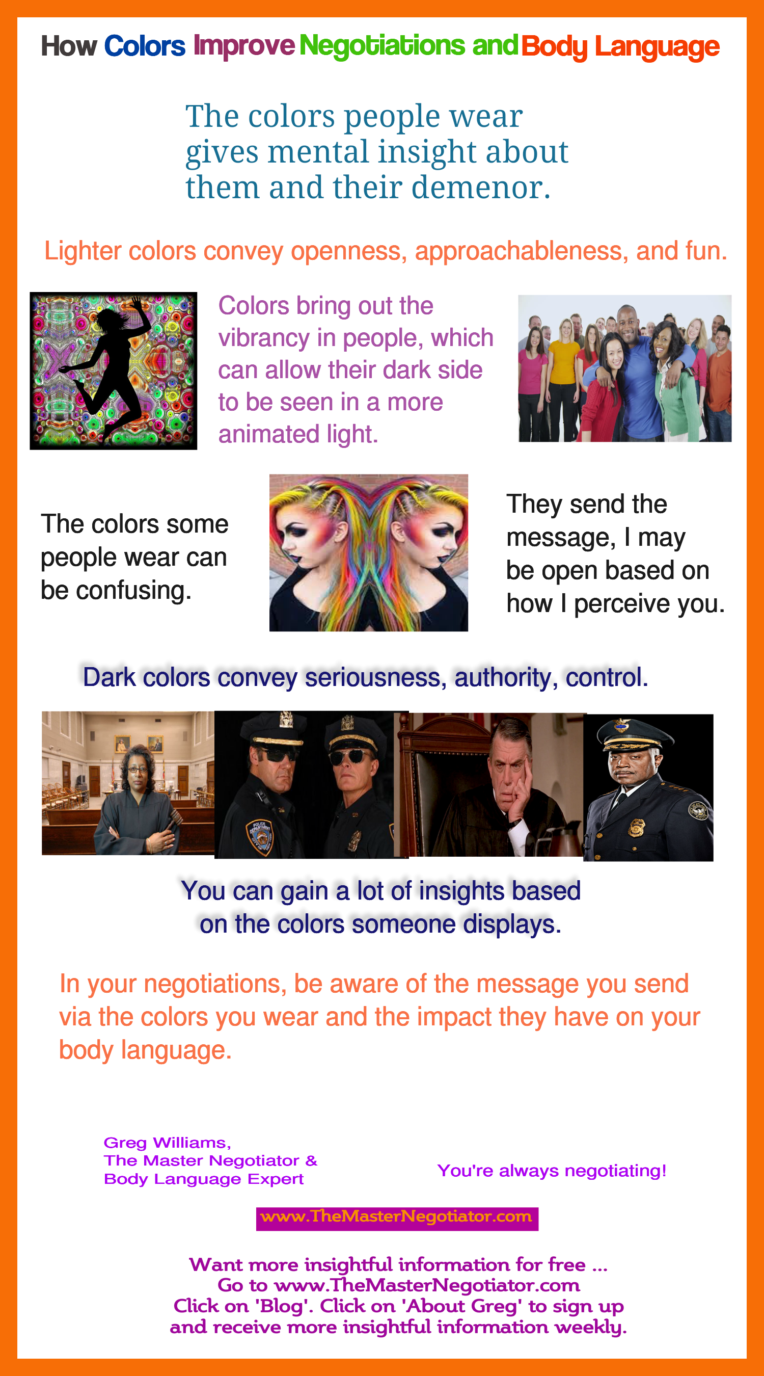 How Colors Improve Negotiations and Body Language