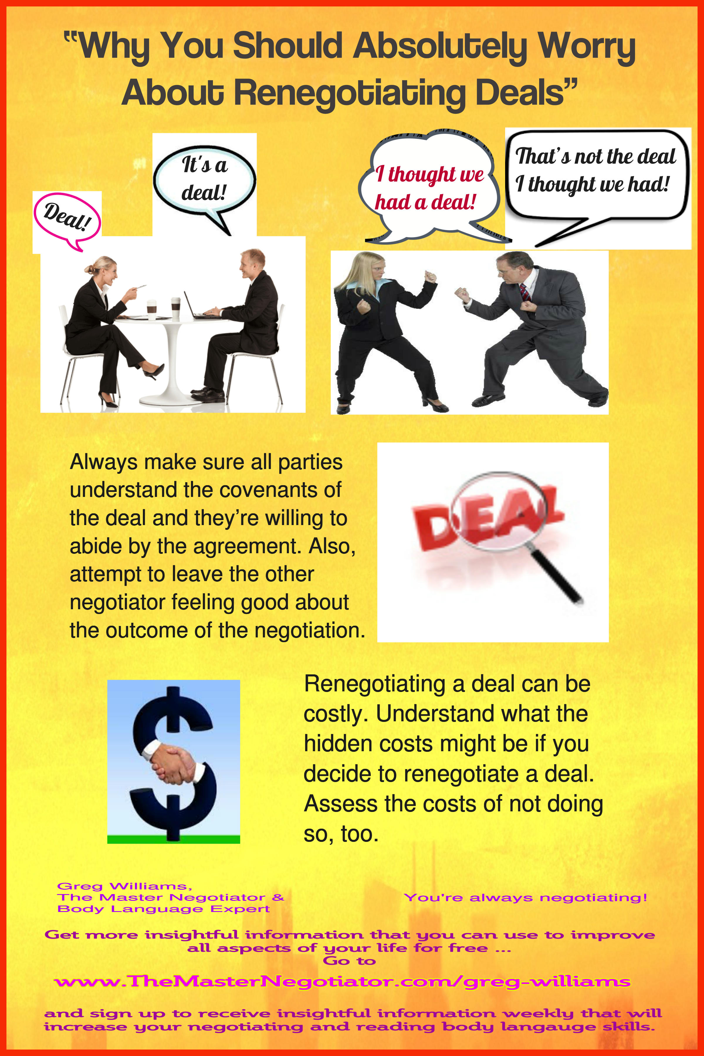 Why You Should Absolutely Worry About Renegotiating Deals
