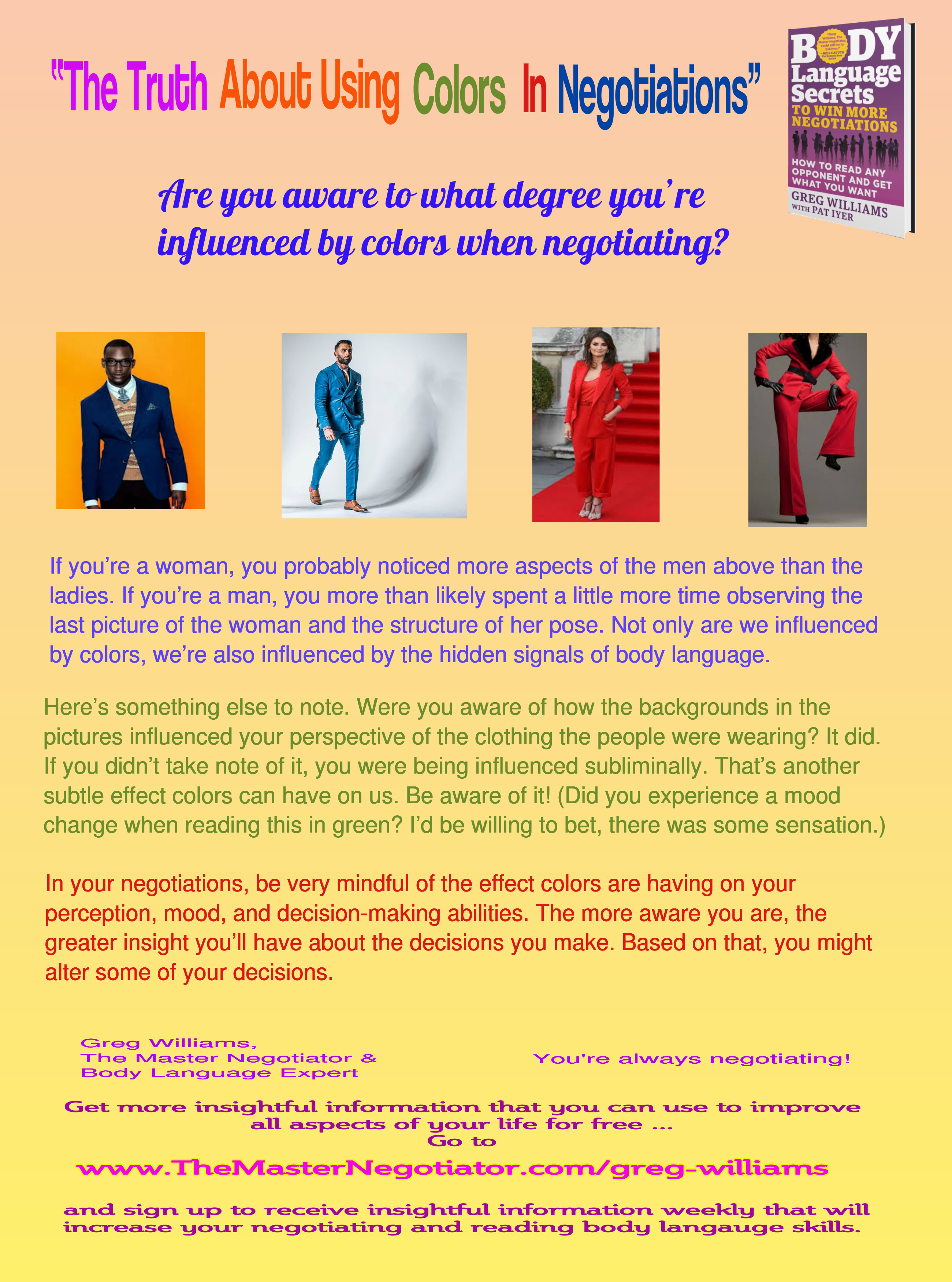 Effect Of Colors On Mood effect of colors in negotiation