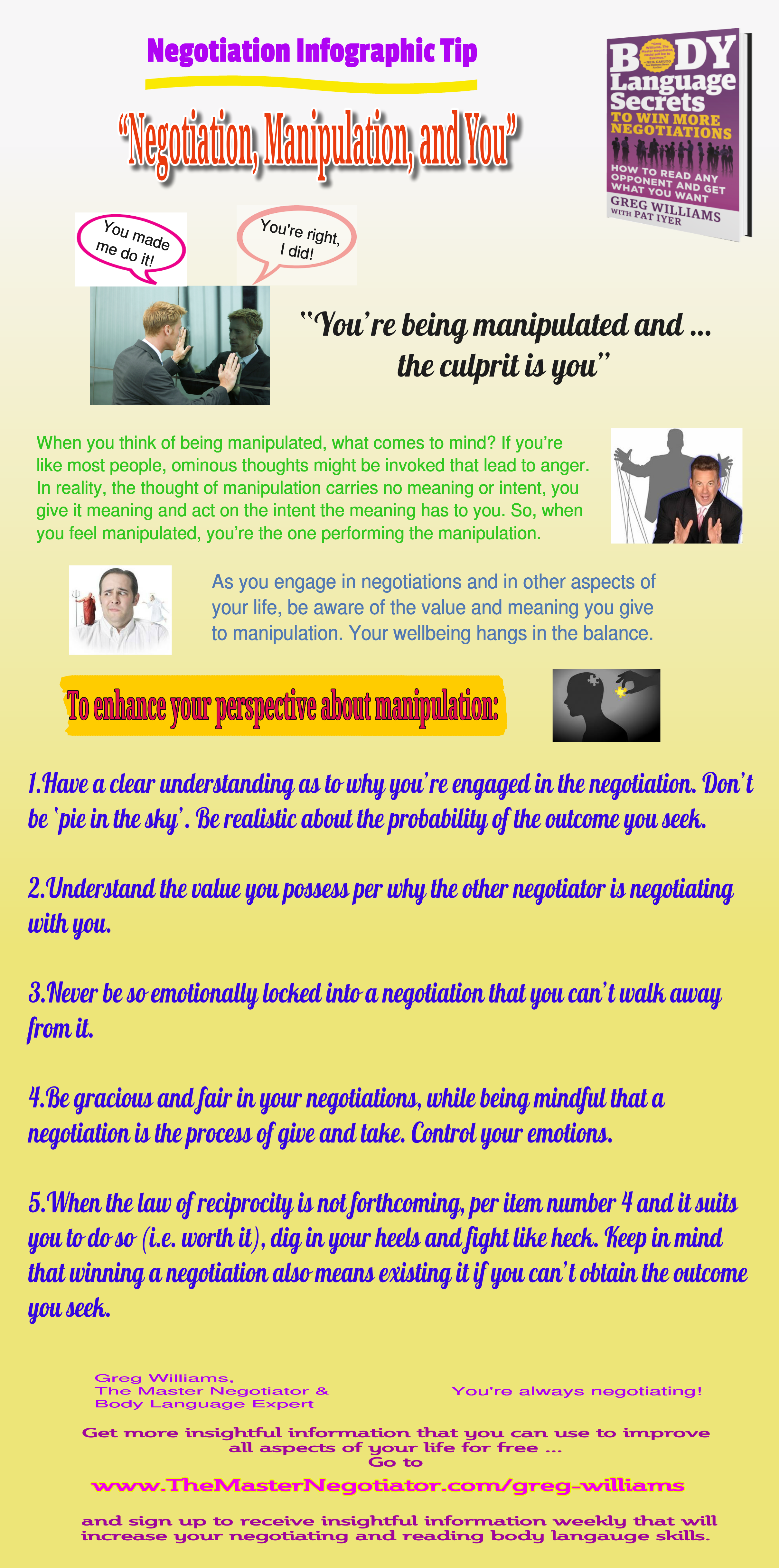 Negotiation Manipulation and You