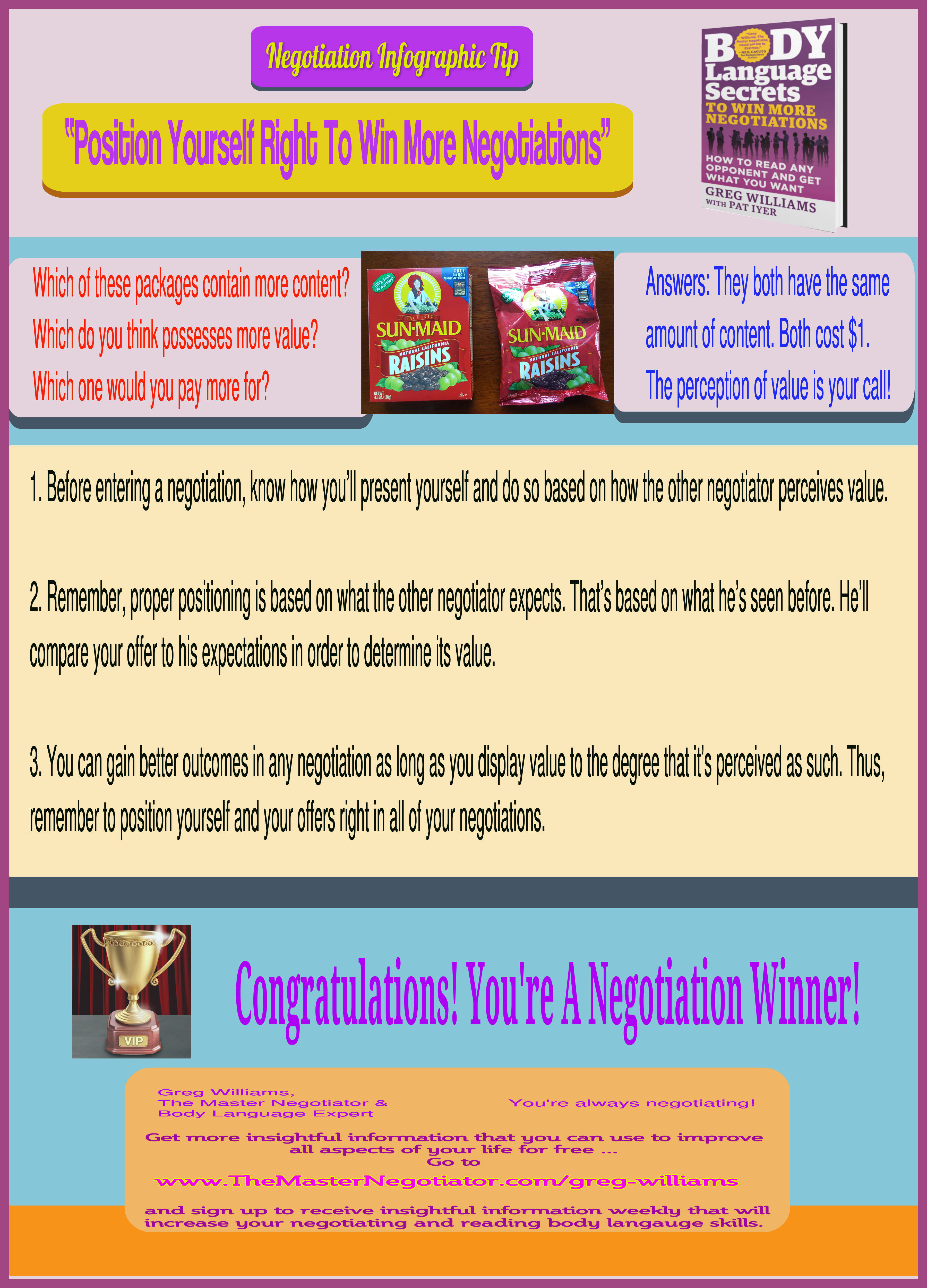 Position Yourself Right To Win More Negotiations