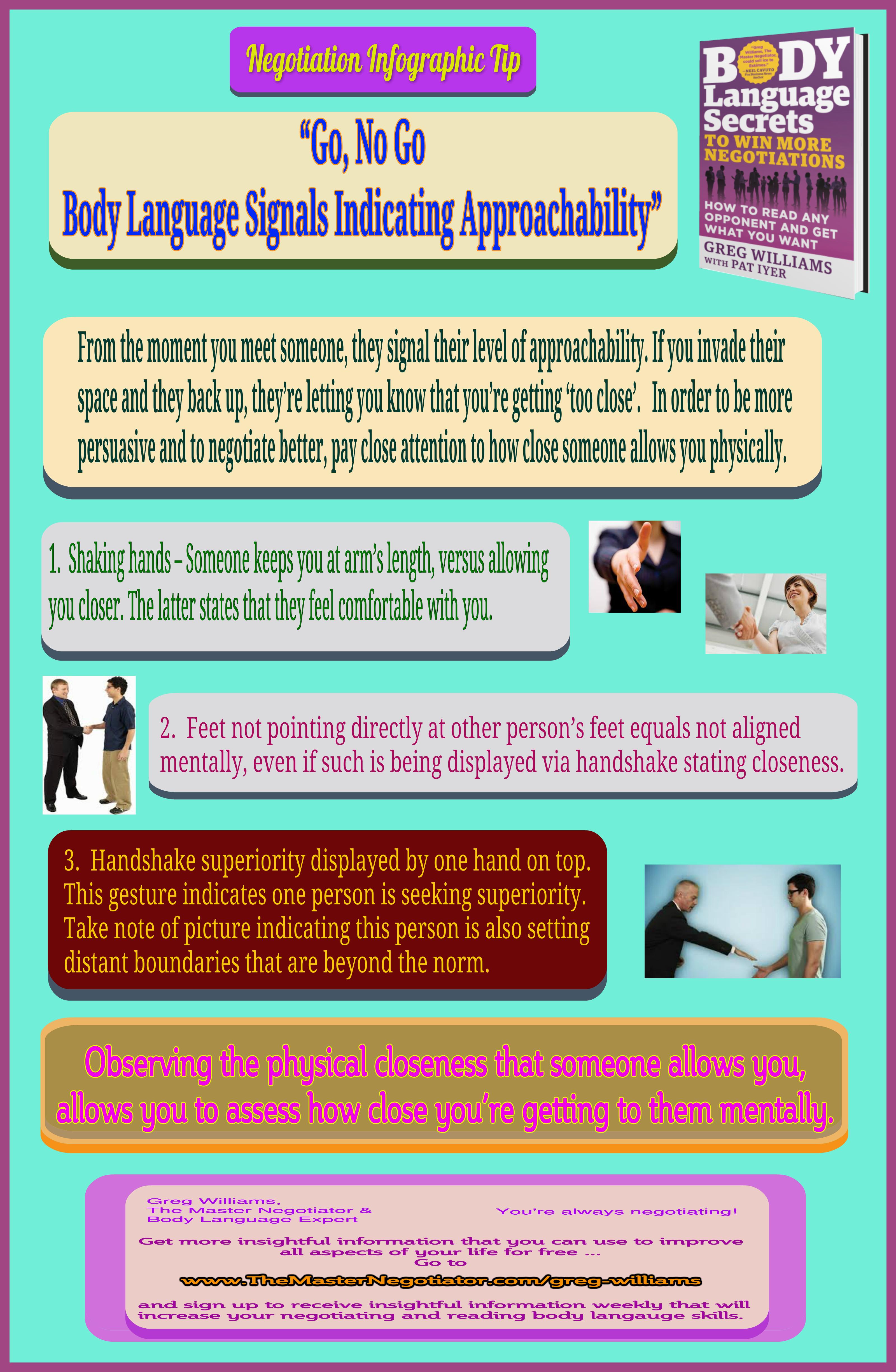 Go No Go  Body Language Signals Indicating Approachability