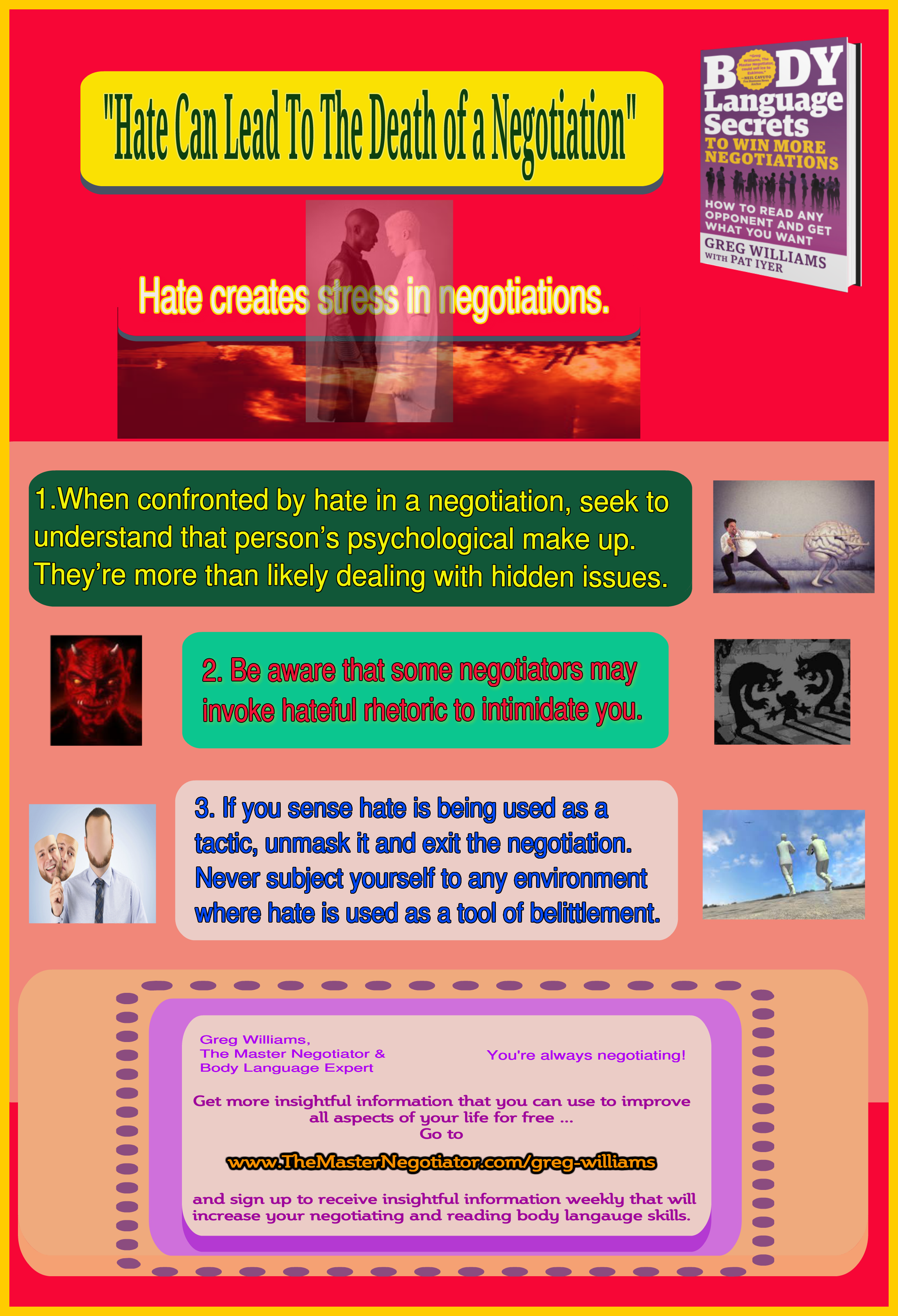 Hate Can Lead To The Death of a Negotiation