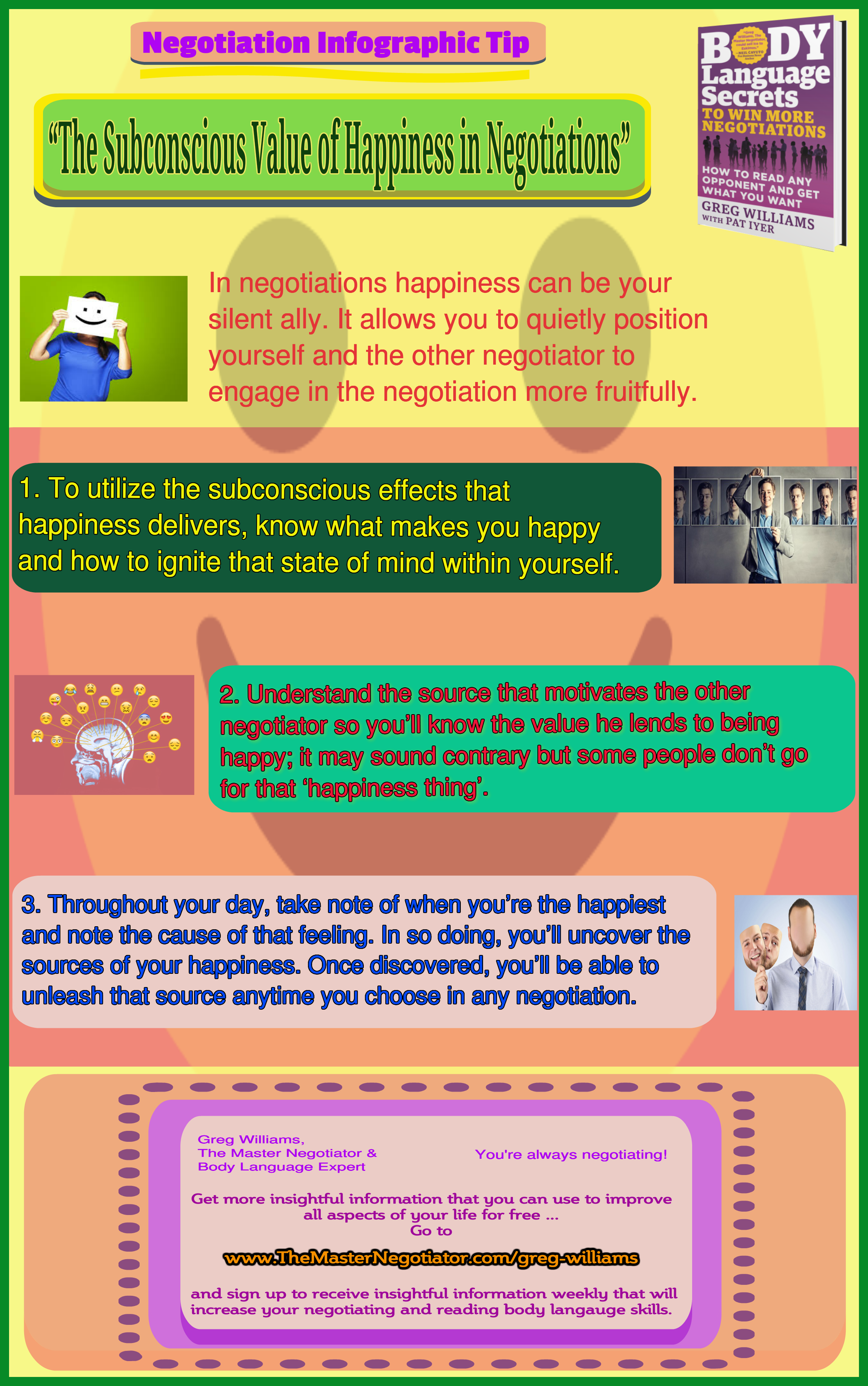 The Subconscious Value of Happiness in Negotiations