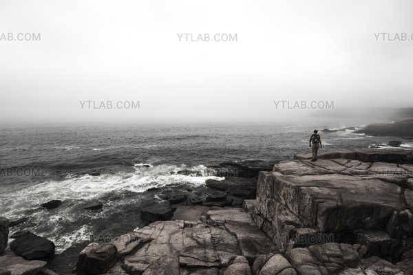 Rocks and Fog