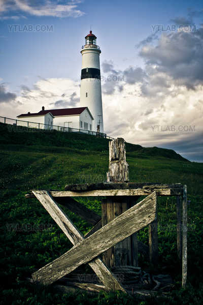 Point Amour Lighthouse and Capstan