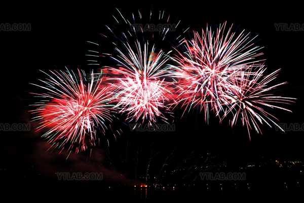 Fireworks over parliament