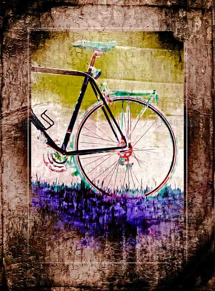 bicycle in abstract