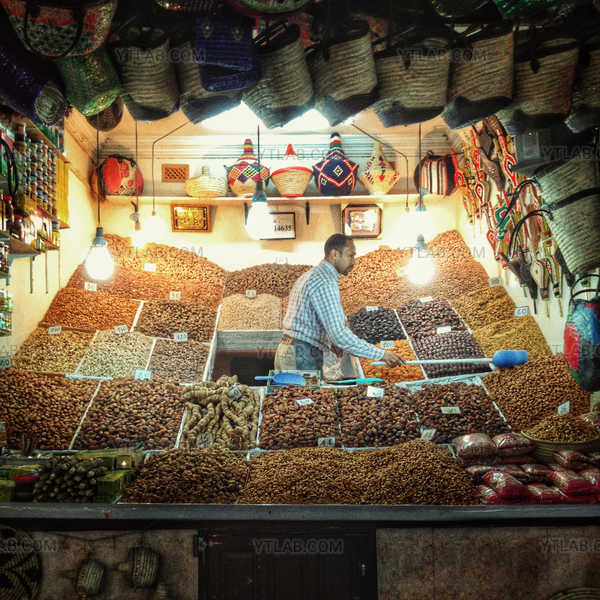 Vendeur d'épices marocain