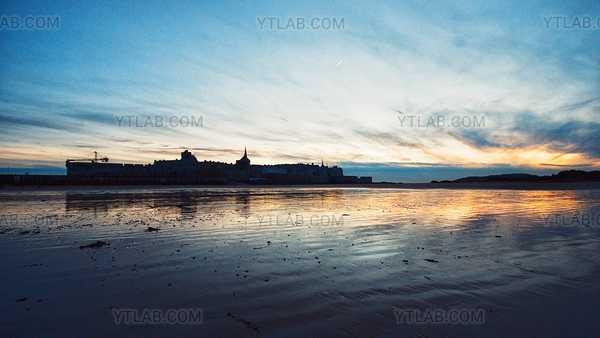 Coucher de Soleil sur les Plages de Saint-Malo