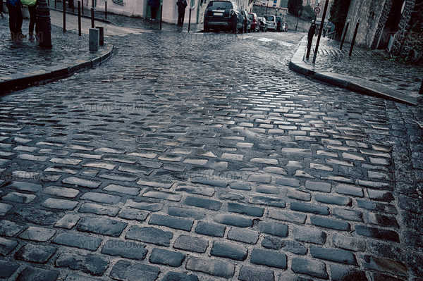 Montmartre under the rain