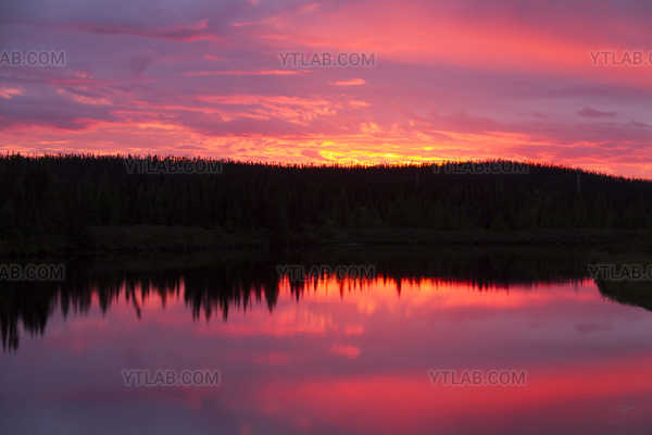 Sunset in Northern Quebec