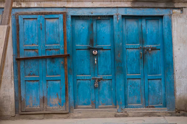 Blue Door in Nepal