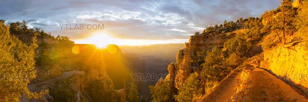 Grand Canyon durant l'heure doré