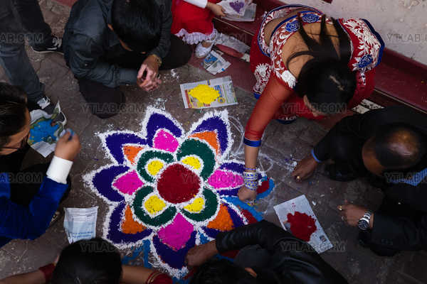 Making Mandala in Nepal