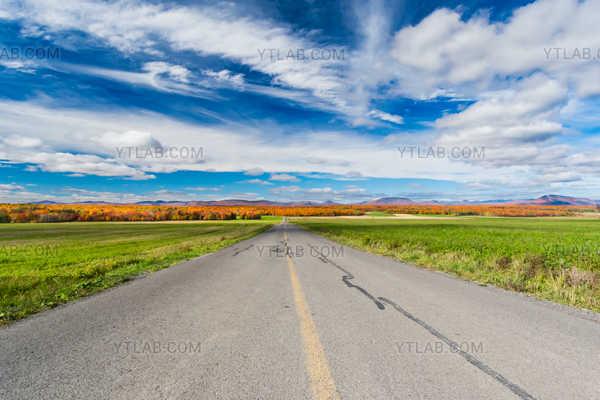 La route vers l'automne