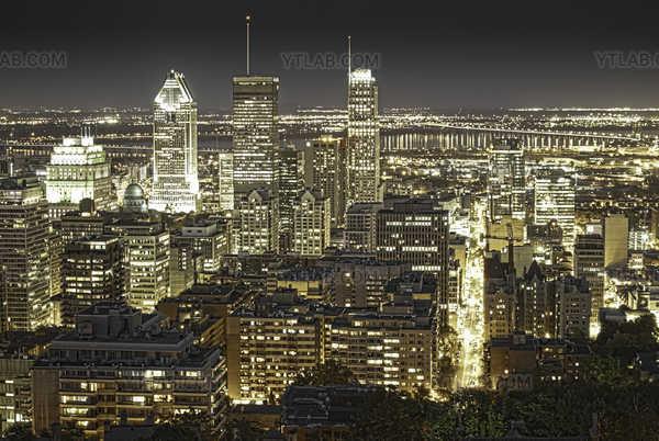 Centre-ville de Montréal en HDR