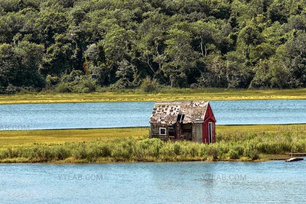 Vieille cabane du Rhode Island, USA
