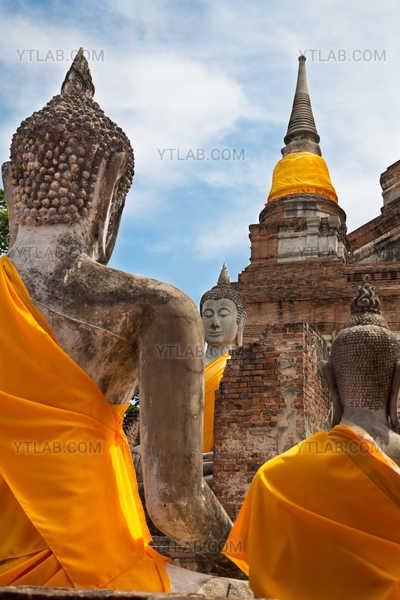 Bouddhas, Ayutthaya, Thaïlande