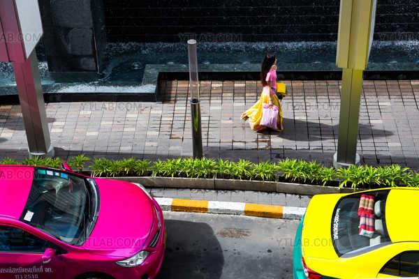 Hasard rose et jaune, Bangkok, Thaïlande