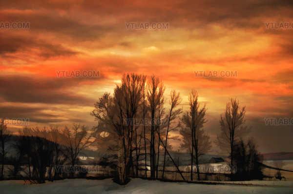Une fin de jour hivernale