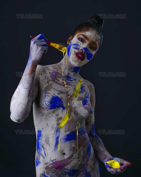 argile bleu et jaune