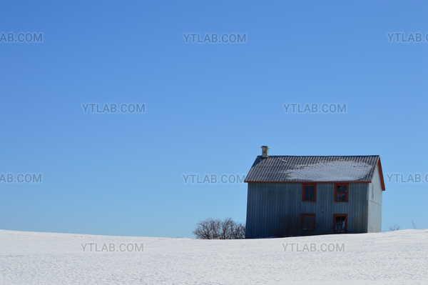 La grange à pignon droit