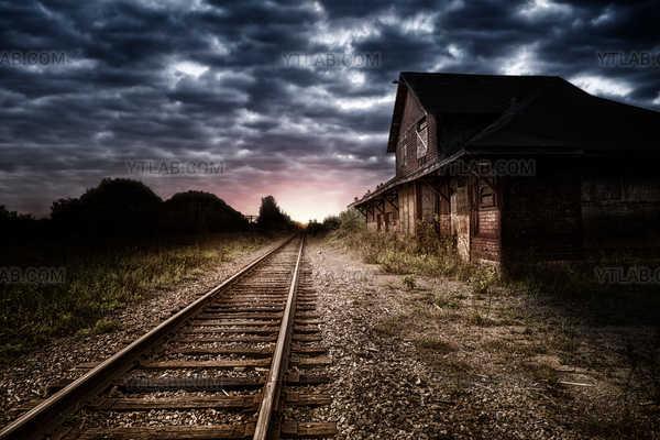 Station de train abandonnée