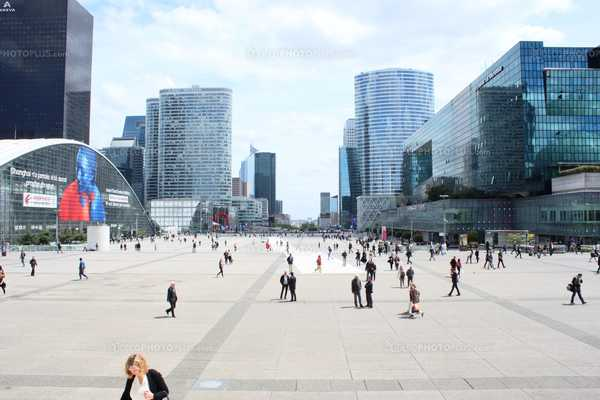 Esplanade of La Défense (Paris - France)
