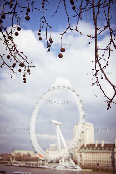 London Eye hors focus