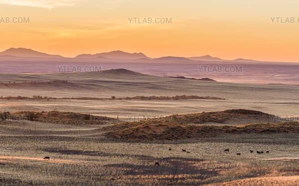 Coucher de soleil dans le désert du Namib