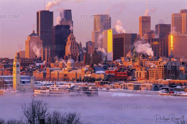 Winter mist over Montreal