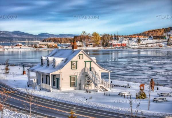 Winter's arrival in Gaspé