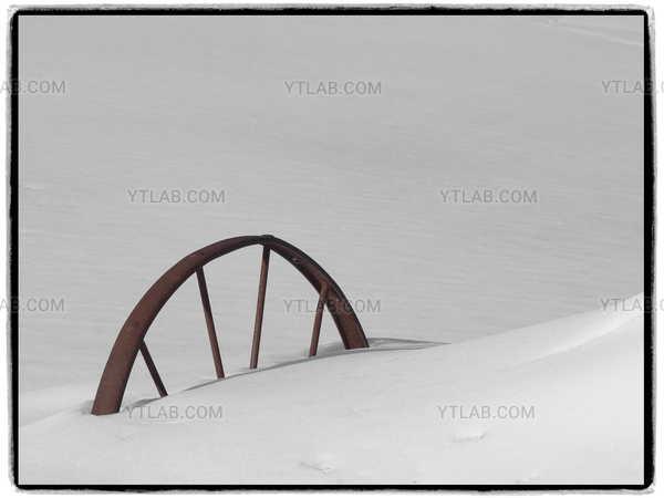 Old steel wheel