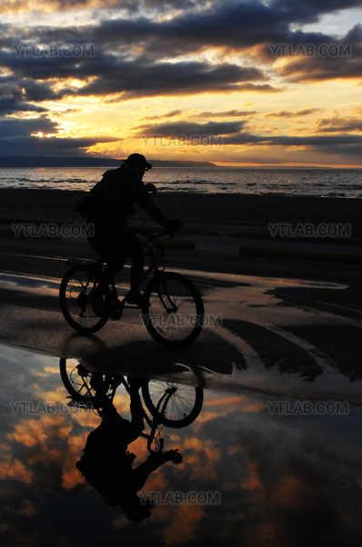 Reflection at sundown