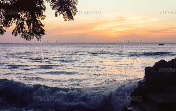 Coucher du soleil à Barbade