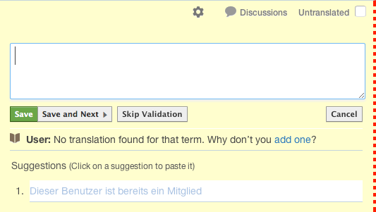 Translation Suggestions